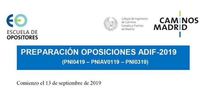Preparación Oposiciones Adif 2019 (GRUPO COMPLETO)