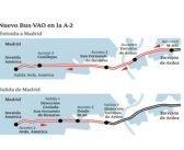Fomento da luz verde al Bus-VAO de la A-2 entre Madrid y Torrejón