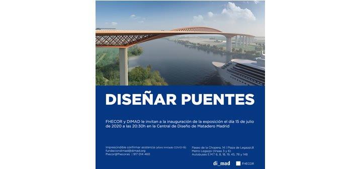 """Exposición """"Diseñar puentes"""" hasta el 13.09.2020 Inauguración 15.07.2020 a las 20.30 h."""