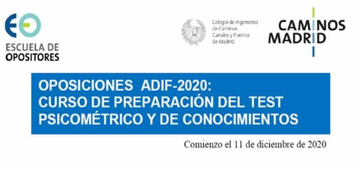 Oposiciones ADIF 2020