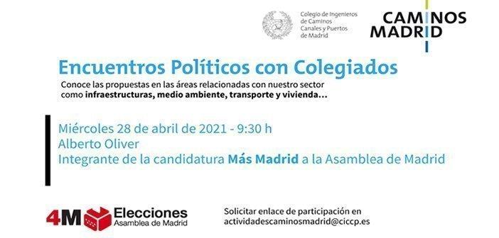 MÁS MADRID Encuentros Políticos con Colegiados