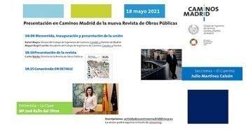 Presentación en Caminos Madrid de la nueva Revista de Obras Públicas